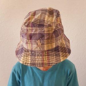 fffea314a6b Polo Ralph Lauren Plaid Bucket Hat Kids S M